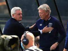 Steve Bruce, left, is not taking Newcastle's safety for granted (Owen Humphreys/PA)