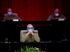 Raul Castro, first secretary of the Communist Party (Ariel Ley Royero/ACN via AP)