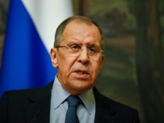 Russian foreign minister Sergey Lavrov (Yuri Kochetkov/via AP)