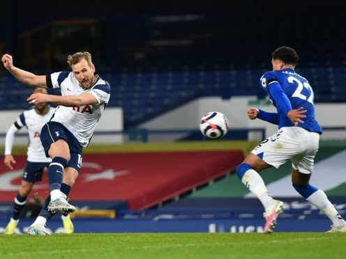 Harry Kane scored both Tottenham goals (Peter Powell/PA)