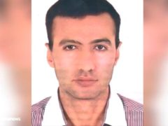 A man identified as Reza Karimi, alleged saboteur of the incident that damaged a centrifuge hall at the Natanz uranium enrichment facility (IRIB/AP)