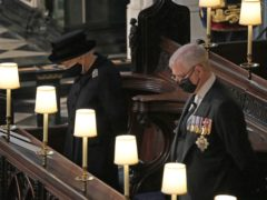 The Queen and Duke of York during the funeral (Yui Mok/PA)