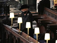 The Queen during the funeral of the Duke of Edinburgh (Yui Mok/PA)
