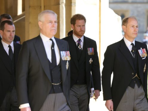 Members of the royal family at the Duke of Edinburgh's funeral (Chris Jackson/PA Wire)