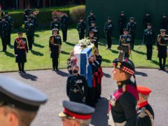 The Duke of Edinburgh's coffin (Arthur Edwards/The Sun/PA)