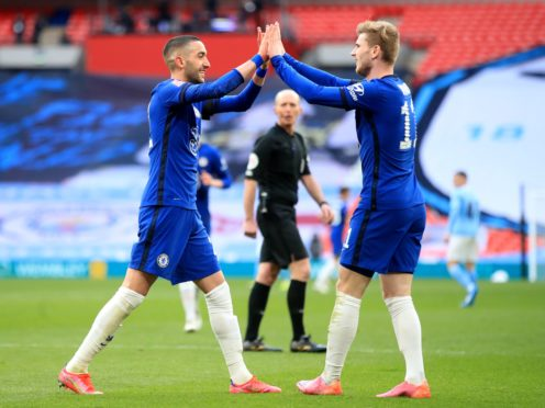 Hakim Ziyech's (left) goal made the difference for Chelsea (Adam Davy/PA)