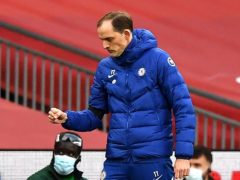 Chelsea manager Thomas Tuchel is celebrating reaching the FA Cup final (Ben Stansall/PA)