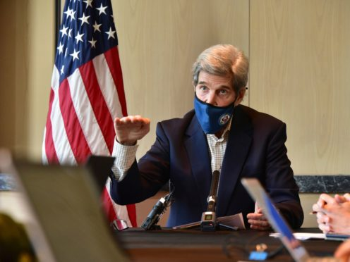 John Kerry said failing to tackle climate change would be 'beyond catastrophic' (AP)