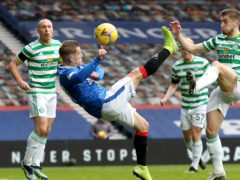 Rangers midfielder Steven Davis rolled back the years with his overhead kick against Celtic (Jane Barlow/PA)