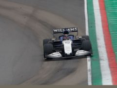 George Russell (pictured) crashed with Valtteri Bottas in Italy (Luca Bruno/AP)
