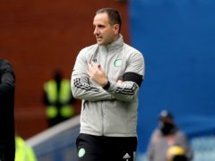 Interim manager John Kennedy bemoans missed chances in Old Firm cup exit (Jane Barlow/PA)