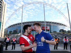 Football fans returned to Wembley on Sunday (Yui Mok/PA)