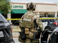 Austin police are searching for the gunman (Bronte Wittpenn/Austin American-Statesman via AP)