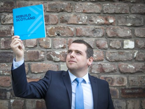 Tory leader Douglas Ross said the 'bold and ambitious' proposals from his party would create 200,000 jobs (Jane Barlow/PA)