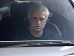 Jose Mourinho leaves Tottenham's training ground (Jonathan Brady/PA)
