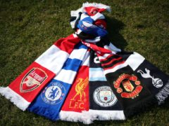 A selection of scarves pictured at Hackney Marshes (Yui Mok/PA)