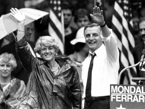 Walter Mondale, a liberal icon who lost the most lopsided presidential election after bluntly telling voters to expect a tax increase if he won, died on Monday (Jack Smith/AP)
