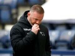 Wayne Rooney and Derby had a bad night at Preston (Martin Rickett/PA)