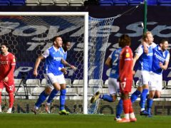 Marc Roberts, second right, opened the scoring for Birmingham (Jacob King/PA)