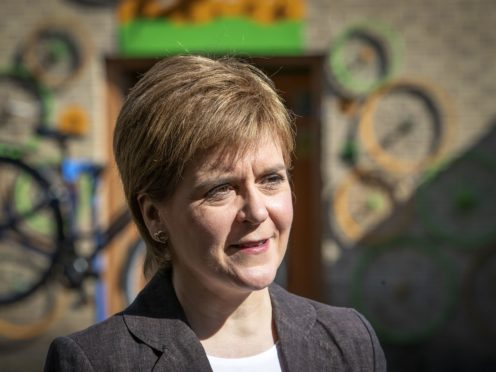 The First Minister said she had 'dedicated my whole adult life' to campaigning for independence (Jane Barlow/PA)