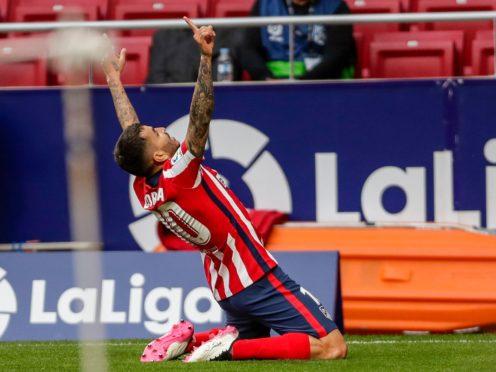 Angel Correa helped Atletico Madrid back to the top of LaLiga (Manu Fernandez/AP)