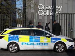 Police activity at Crawley College, West Sussex (Yui Mok/PA)