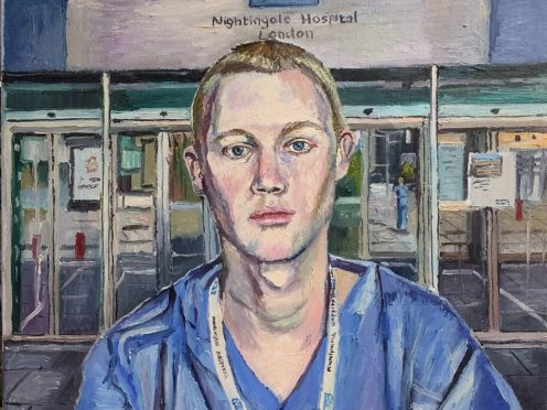 Melissa Scott-Miller's painting (Melissa Scott-Miller/PA)