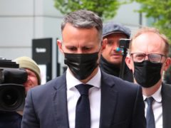 Former Manchester United footballer Ryan Giggs arrives at Manchester Magistrates' Court where he is charged with assaulting two women and controlling or coercive behaviour (Peter Byrne/PA)
