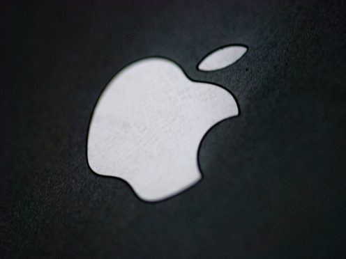Apple computer logo on the back of an Apple iPhone