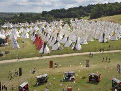 The teepee field at Glastonbury Festival 2010 (Ben Birchall/PA