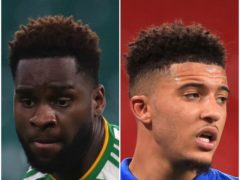 Odsonne Edouard and Jadon Sancho (Andrew Milligan/Mike Egerton/PA)