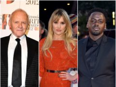 Sir Anthony Hopkins, Emerald Fennell and Daniel Kaluuya (PA)