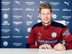 Kevin De Bruyne has signed a new contract extension at Manchester City (Man City handout/PA)