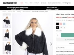 A 'faux fur' trimmed denim jacket advertised on Just Your Outfit (ASA/PA)