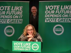 Scottish Green Party co-leaders Lorna Slater and Patrick Harvie have launched the party's manifesto for the Scottish Parliament election (Andrew Milligan/PA)