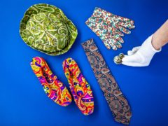 Paisley-patterned objects from Paisley Museum (Elaine Livingstone/PA)