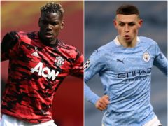 Paul Pogba/ Phil Foden (Gareth Copley/ Nick Potts/ PA)