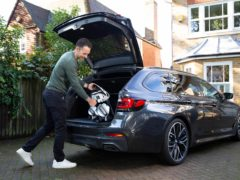 An estate car is well suited to transporting golf clubs