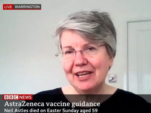 Alison Astles urged people to still continue with their vaccinations (BBC News/PA)