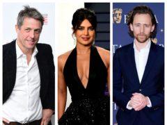 Hugh Grant, Priyanka Chopra and Tom Hiddleston (PA)