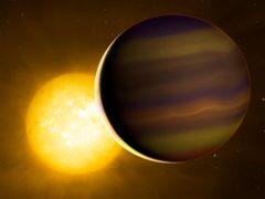 Artist impression of HD 209458b exoplanet (University of Warwick/Mark Garlick/PA)