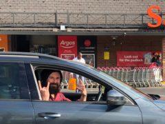 Gareth Wild in his car at Sainsbury's in Bromley (Stuart Ensor)