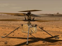 An artist's impression of the Ingenuity Mars helicopter (Nasa/JPL-Caltech)