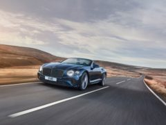 The GT Speed Convertible uses a W12 engine