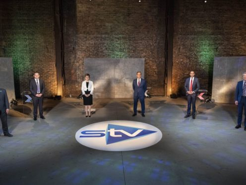 The leaders of the five Holyrood parties clashed in a TV debate (STV/Kirsty Anderson/PA)