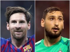 Lionel Messi and Gianluigi Donnarumma (Nick Potts/Adam Davy/PA)