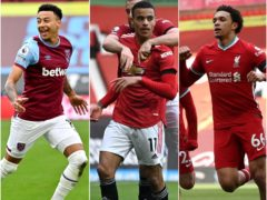 Jesse Lingard, Mason Greenwood and Trent Alexander-Arnold, l-r, will not be heading to a Super League but are battling for Champions League and England places (Justin Tallis/Gareth Copley/Clive Brunskill/PA)
