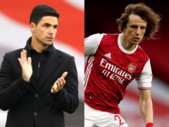 Mikel Arteta was full of praise for David Luiz, who will leave Arsenal at the end of the season (Richard Heathcote/Nick Potts/PA)