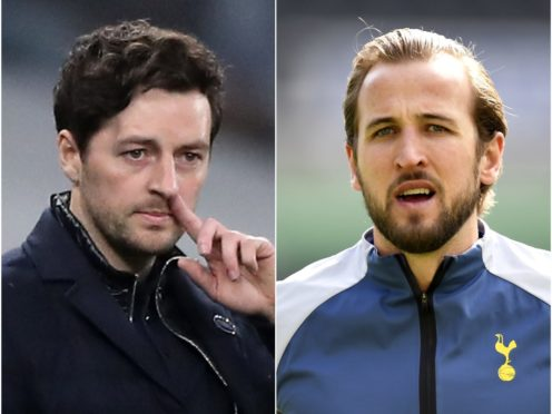 Ryan Mason (left) says he cannot answer questions on Harry Kane's future (Nick Potts/Peter Powell/PA)