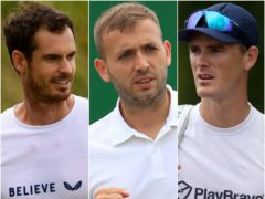 Andy Murray, Dan Evans and Jamie Murray (Victoria Jones/Mike Egerton/Steven Paston/PA)